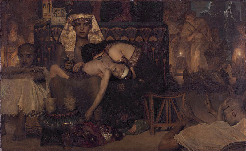 800px-1872_Lawrence_Alma-Tadema_-_Death_of_the_Pharaoh_Firstborn_son