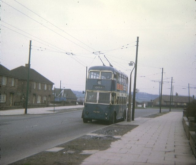 Bradford_Trolleybus_at_Buttershaw_Terminus_-_geograph.org.uk_-_1537919